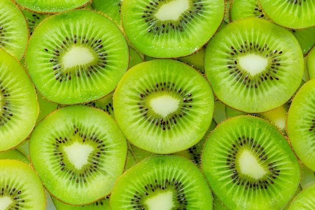 Kiwi macrofresh kiwi fatiado para uso no fundo