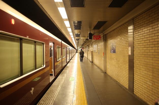 Kyoto japan subway tunnel