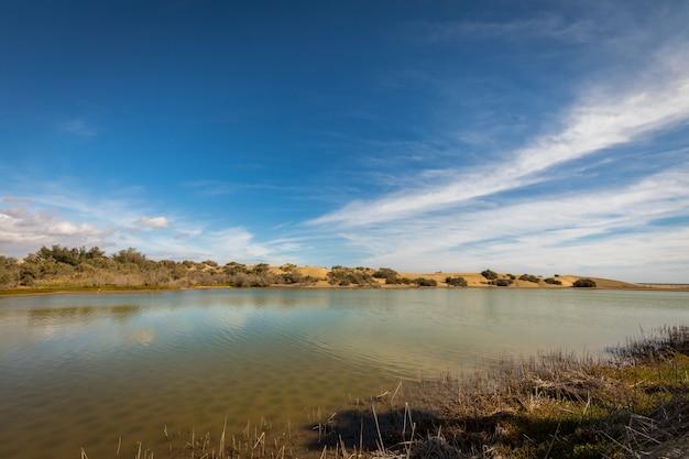 La charca, local de observação de pássaros e reserva natural em maspalomas em gran canaria, espanha