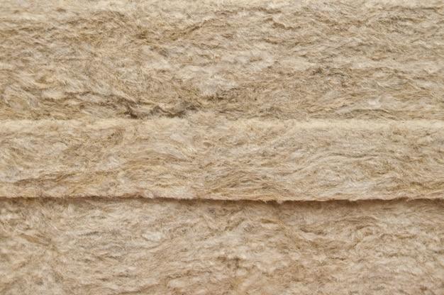 Lã mineral de pedra, fim acima.
