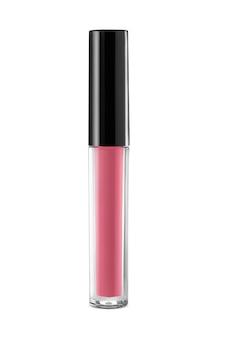 Lábio rosa isolado no fundo branco