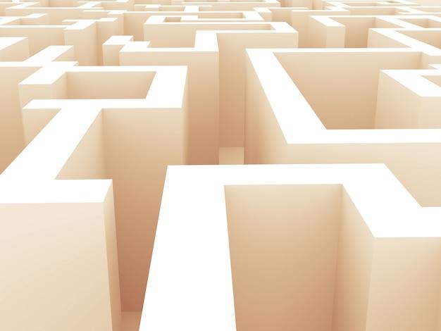 Labirinto 3d ninguém ao redor