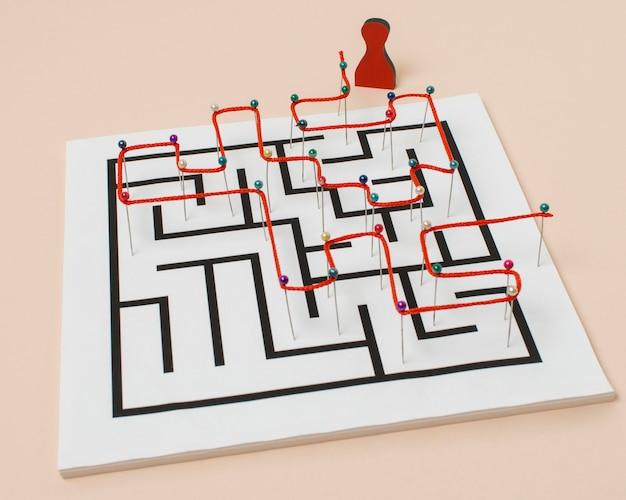 Labirinto e linha de alto ângulo