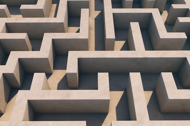 Labirinto vazio. vista aérea.