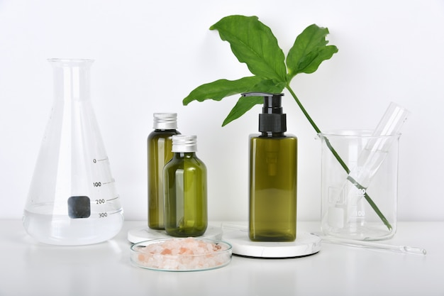 Laboratório de pesquisa de produtos de beleza naturais para a pele.