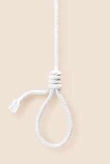 Laço de corda para pescoço morto