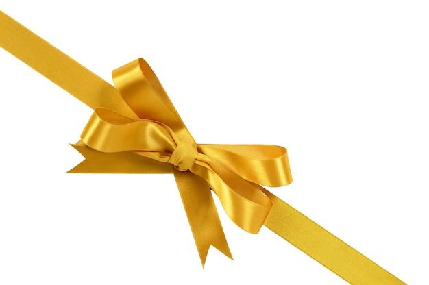 Laço de fita de presente do ouro