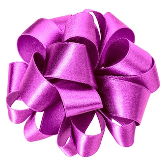 Laço redondo grande lilás isolado close up