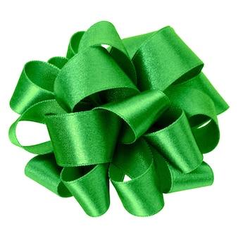 Laço redondo grande na cor verde isolado. arco para decoração.