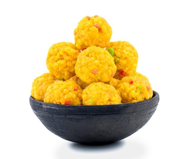 Laddu doce indiano popular nos festivais indianos