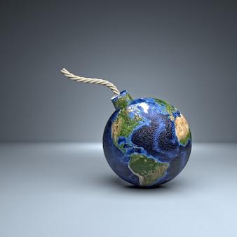 Lado americano da bomba do mundo