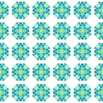Ladrilho orgânico. projeto de verão chique de boho real verde. têxtil pronto para impressão agradável, tecido de biquíni, papel de parede, embrulho. borda verde orgânica na moda.