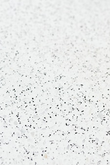 Ladrilho texturizado de granito branco com manchas pretas