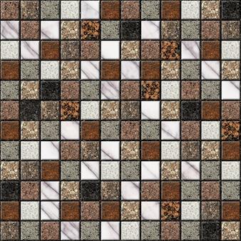 Ladrilhos cerâmicos decorativos com textura de mármore natural. elemento de design de interiores. textura de fundo, mosaico