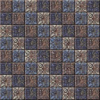 Ladrilhos cerâmicos decorativos com um padrão abstrato. textura de pedra de fundo