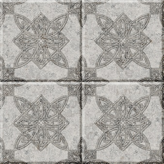 Ladrilhos de pedra decorativos em relevo com um padrão. elemento de design de interiores. textura de fundo