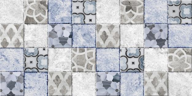 Ladrilhos decorativos com padrões e textura de pedra natural. textura de fundo. elemento para design de interiores
