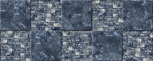 Ladrilhos decorativos de pedra com textura de mármore e tijolo antigo. textura de fundo