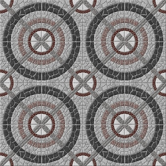 Ladrilhos decorativos de pedra. mosaico de granito natural. , piso e paredes. textura de fundo de pedra