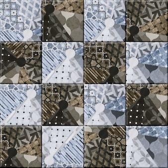 Ladrilhos decorativos para interior. mosaico de cerâmica colorida com um padrão. textura de fundo. elemento de design