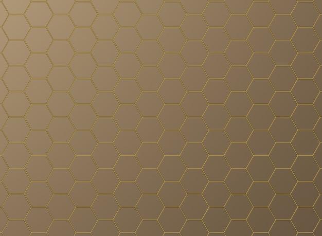 Ladrilhos hexagonais com luz neon entre as juntas.