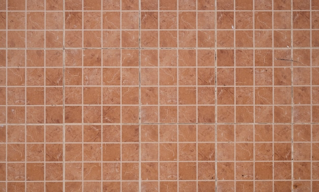 Ladrilhos pequenos quadrados coloridos, mosaico decorativo