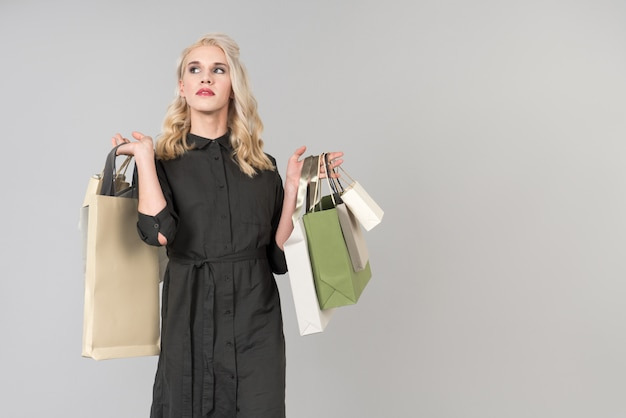 Lady compra ir ao shopping