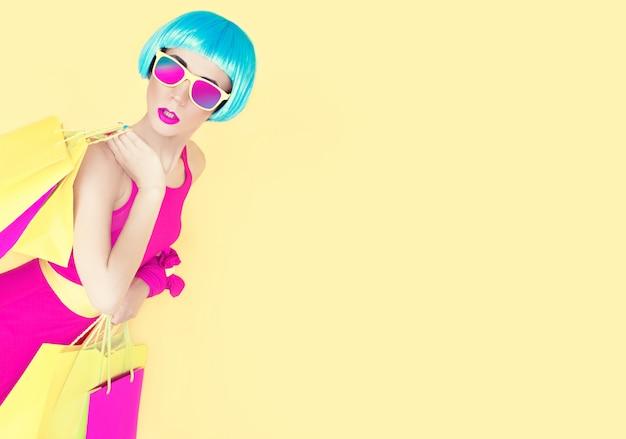 Ladys moda glamourosa