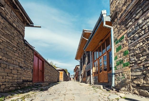 Lagich, azerbaijão, 24 de outubro de 2018. centro turístico, antiga rua