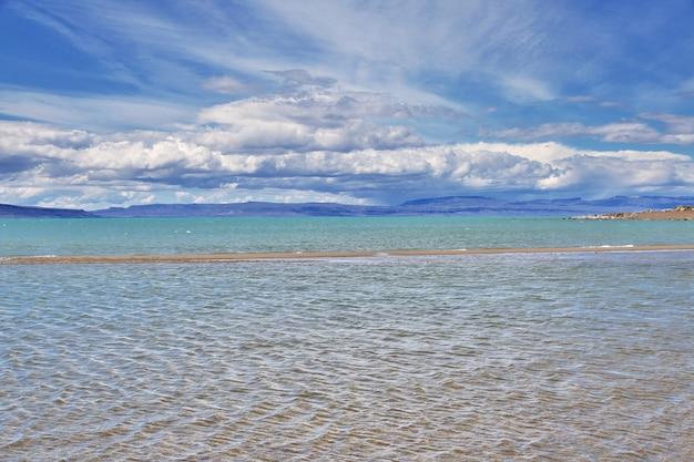 Lago argentino em laguna nimez reserva
