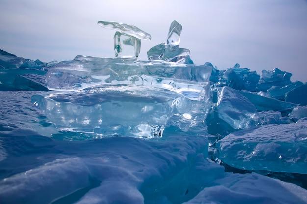 Lago baikal no inverno