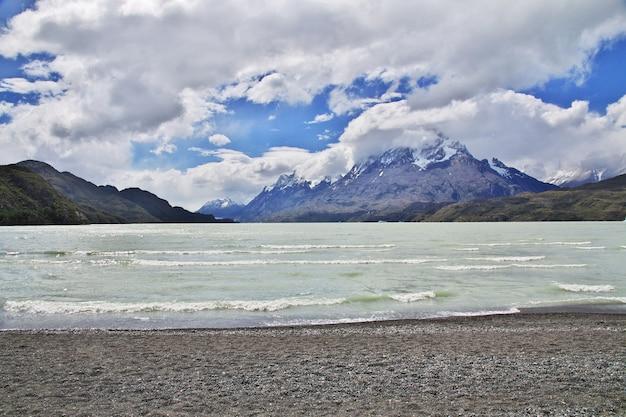 Lago grey lago no parque nacional torres del paine patagonia