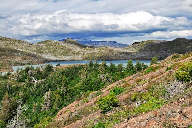 Lago grey no parque nacional torres del paine, patagonia, chile