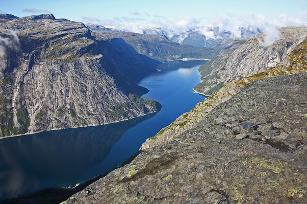 Lago na língua do troll. noruega