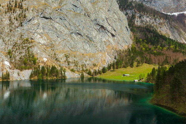 Lago obersee. bavaria, alemanha