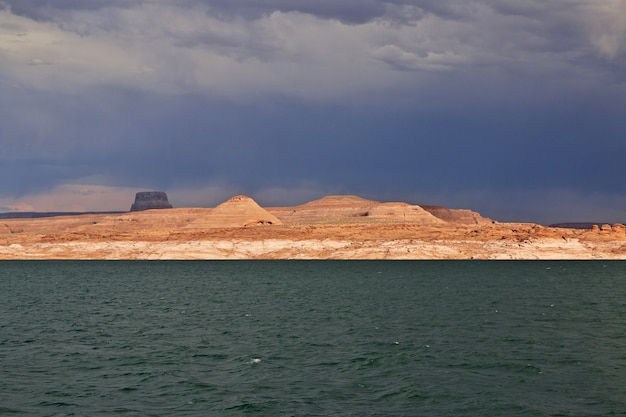 Lago powell no arizona, paige, eua