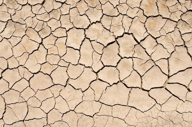 Lago seco com textura natural de solo rachado. textura natural