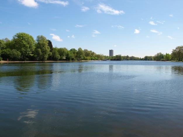 Lago serpentine, londres