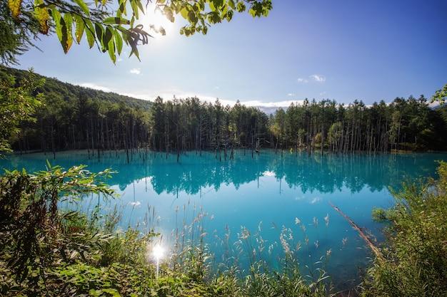 Lagoa azul em biei