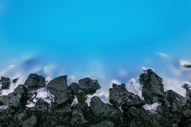 Lagoa azul na islândia.