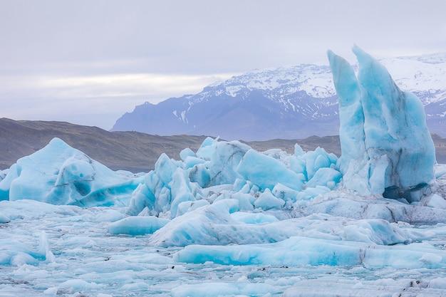 Lagoa de jokulsarlon islândia