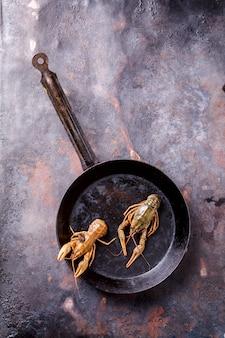 Lagostas raw, baby lobster.summer food. frutos do mar.