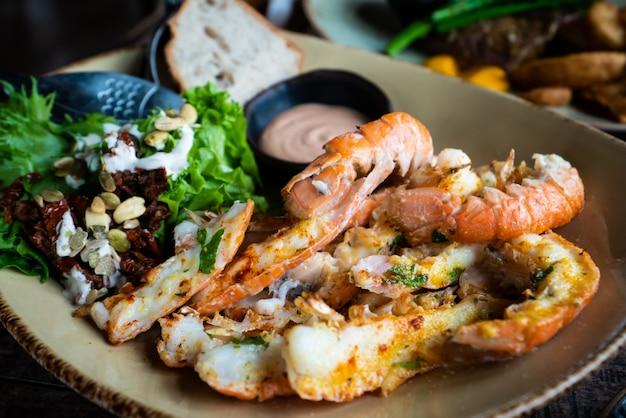 Lagostins. cozinha islandesa feita de lagosta.