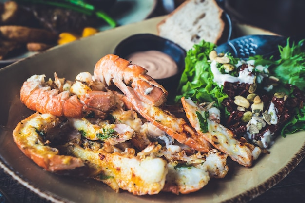 Lagostins - cozinha islandesa feita de lagosta.