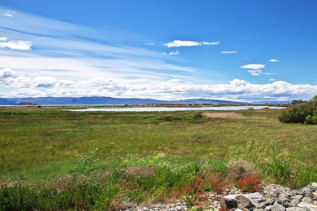Laguna nimez reserva em el calafate, patagônia, argentina