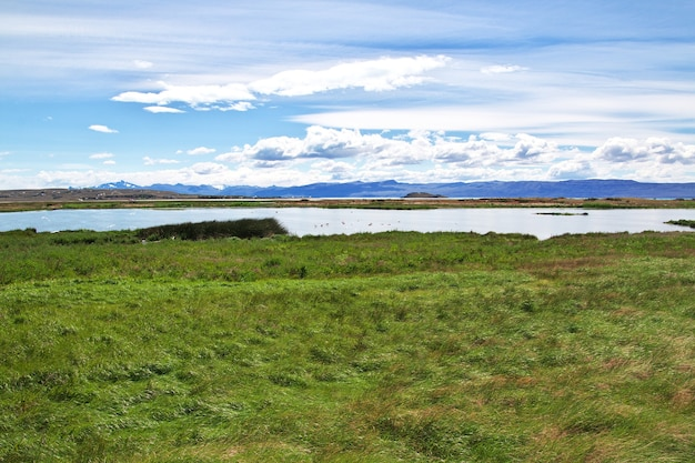 Laguna nimez reserva perto de el calafate na patagônia, argentina