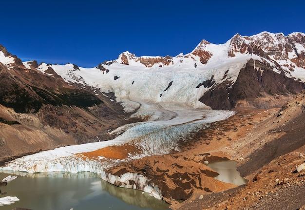 Laguna torre em los glaciales np, patagônia, argentina