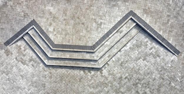 Lajes de pavimentação de alta qualidade, para pavimentação de caminhos, estacionamentos, ruas. olhar do zangão, textura.