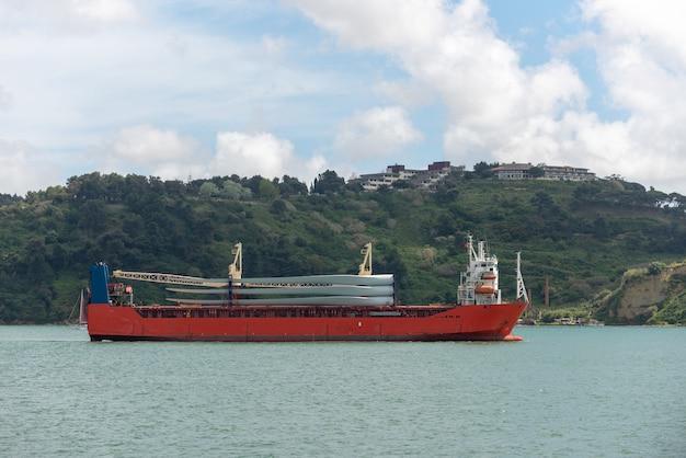 Lâminas de transporte de navios para um moinho de vento