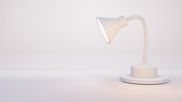 Lâmpada 3d isolada no fundo branco